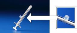 Luer lock syringe (1cc)(with injection port)